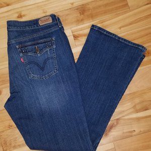 LEVI'S 515 BOOT CUT BLUE JEANS WOMEN'S SIZE 16